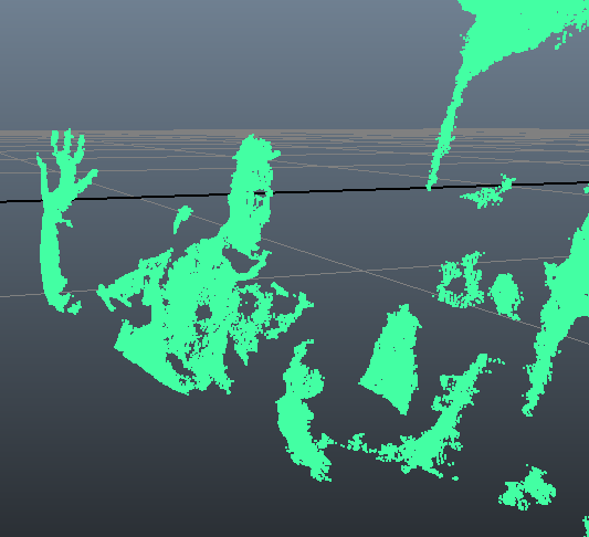 Using the Microsoft Kinect SDK to bring a basic point cloud into