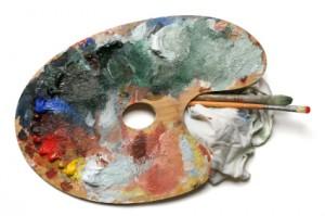 Mixing-paint-colors-palette