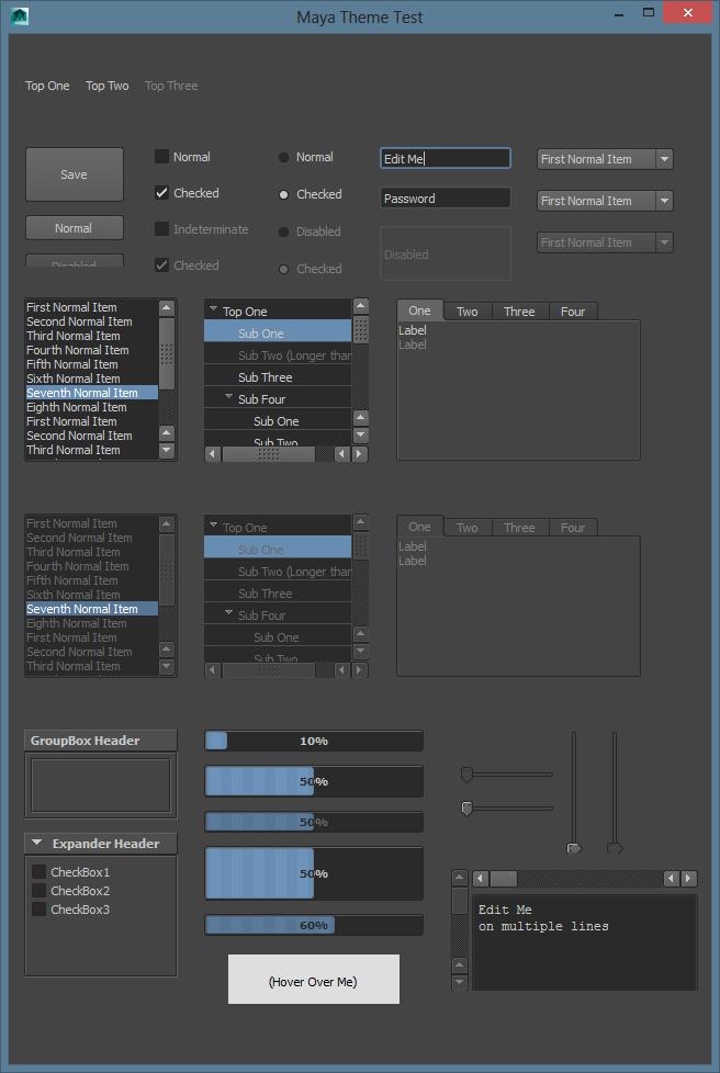 Applying the Maya Dark Color Scheme to WPF - Around the Corner
